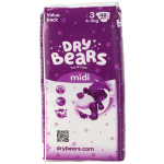 Подгузники Dry Bears Fun Care 3 midi 48 шт. (4-9 кг.)