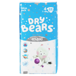 Подгузники Dry Bears Slim Cool 4 Maxi 44 шт. (7-18 кг.)
